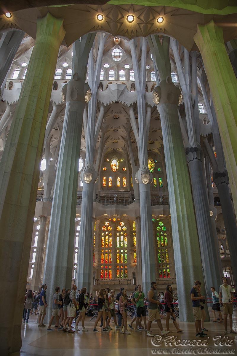 2013 spain trip barcelona traveler home for La sagrada familia inside
